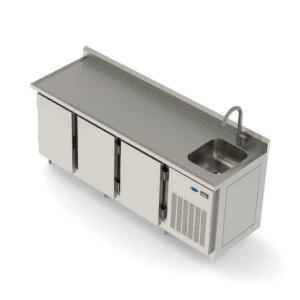 Refrigerador horizontal industrial 3 portas